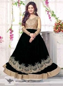 Black Voguish Anarkali Salwar Suit