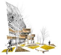 24 Ideas For Landscape Collage Architecture Atelier Architecture, Landscape Architecture Model, Architecture Drawing Plan, Architecture Drawing Sketchbooks, Architecture Drawing Art, Conceptual Architecture, Architecture Model Making, Architecture Graphics, Architecture Visualization