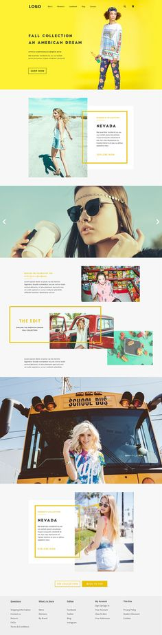 Here's 20 creative website design inspiration 2016 for web designers. These designs are not just creative but elegant too. Featuring these creative website design inspiration 2016 will be cool to. Layout Design, Design De Configuration, Web Ui Design, Web Layout, Fashion Web Design, Typo Design, Print Design, Homepage Design, Design Websites