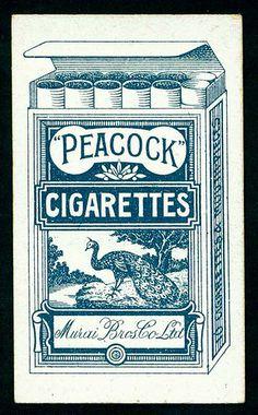 Cigarette Card Packet Back - Peacock Cigarettes