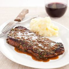 Pan-Seared Steaks with Herb Sauce Recipe - America's Test Kitchen from America´s Test Kitchen