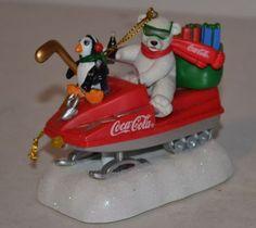 Coca-Cola-POLAR-BEAR-SNOWMOBILE-MUSICAL-ORNAMENT $4.99