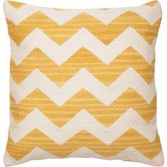 Kudde Wave gul - om kombon grått och gult