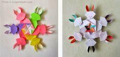Origami Maniacs: Rabbit Snowflake By Francis Ow