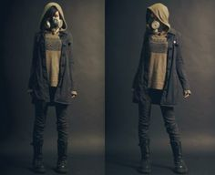 Post-Apocalyptic Fashion, aside from the gas mask i would actually wear this now.