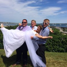 Brothers and the Bride. Cape Cod Wedding.