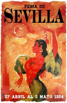 Sevilla Festival Poster Feria de Abril y Fiestas Primaverales 1952Feria de Abril, Fiestas Primaverales 1954Vintage 1954 advertising poster announcing the annual Seville April Fair which is held in the Andalusian capital in Spain every year.The Final Touch to your decorationOur posters create a highly decorative visual getaway in your home decor.Hang Sevilla Festival 1954 Poster and create a new window onto your favourite places and the most precious moments of your life.Poster… Music Posters, Cool Posters, Beatles Band, Life Poster, Festival Posters, Advertising Poster, Rest Of The World, Seville, Precious Moments
