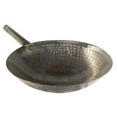 The Wok Shop's Own 12' Carbon Steel Hand Hammered Pow Wok w/Metal Handle *** Click on the image for additional details.