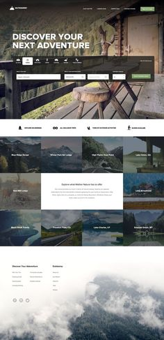 This is our daily Website design inspiration article for our loyal readers. Every day we are showcasing a website design ideas whether live on app stores or only designed as concept. Travel Website Design, Website Design Layout, Web Layout, Travel Design, Layout Design, Real Estate Website Design, Website Design Inspiration, Graphic Design Inspiration, Cv Web