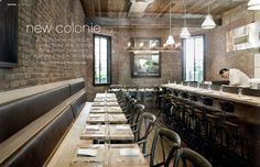 cool restaurant i brooklyn :) Restaurant Hotel, Restaurant Identity, Restaurant Design, Restaurant Interiors, Restaurant Ideas, Commercial Design, Commercial Interiors, Bar Interior, Interior Design