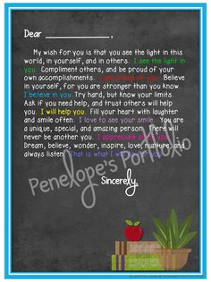 End of the Year Letter to Student by Penelope's Portfolio - Social Skills Welcome Words, Welcome Quotes, Welcome Letters, Letter To Students, Dear Students, Words Of Encouragement For Kids, Encouragement Quotes, End Of Year Quotes, Quotes For Kids