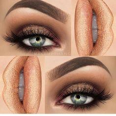 Golden look!  @makeupthang | #makeup