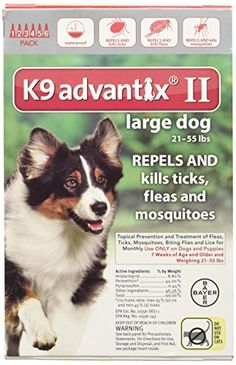 afe59f9a8dea6 K9 Advantix II 6Month Dogs 2155 Lbs Red *** You can find out more