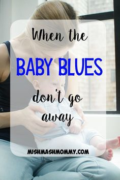 Postpartum depression affects more women than you think.  When the baby blues don't go away.