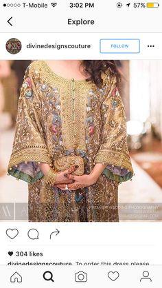 Embroidery on jamawar Shadi Dresses, Pakistani Formal Dresses, Pakistani Outfits, Indian Dresses, Indian Outfits, Ethnic Fashion, Asian Fashion, Eastern Dresses, Rajputi Dress