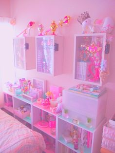 "bitmapdreams: ""playing around with my room layout ♪ gave myself more storage space ☆ """