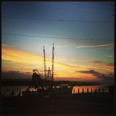 Beautiful sunrise on the water in Savannah…