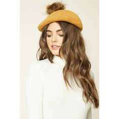 Forever21 Slouchy Faux Fur Pom-Pom Beanie (19 BGN) ❤ liked on Polyvore featuring accessories, hats, faux fur pom pom beanie, beanie hat, slouchy beanie, faux fur hat and pom pom hat