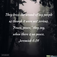 Jeremiah 6:14 #verseoftheday #CVC #scripture #bible #sermonseries #how2behappy http://www.cobbvineyard.com/