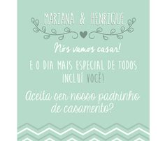 Convite para padrinhos de casamento. #Groomsmen #Groomsman #PadrinhodeCasamento…