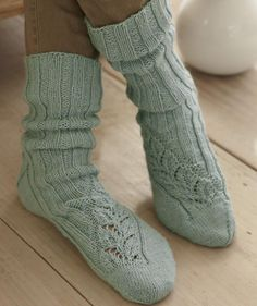 Socks with Lace Edging