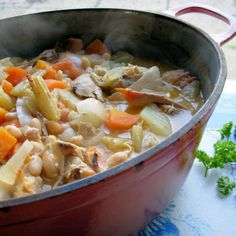 Tasty Chicken & Fennel Soup in a Crock Pot Recipe