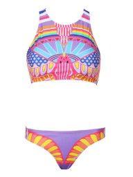 Multicolor Painting Print Bikini Suit