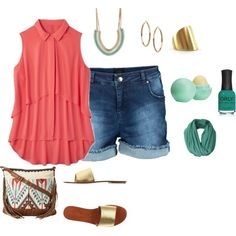 my plus size summer look/texas heat, created by kristie-payne on Polyvore