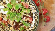 Quinoasalat med rosiner og limedressing