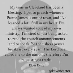 @Regrann from @kevoncarter -  Well there it is in his own words #sports #nba #cavs #church #ministry #preachers #assignment  #Explore #MMV www.biglifemmv.com - #regrann
