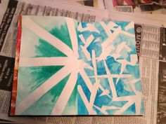 My art journal. Masking and watercolor.
