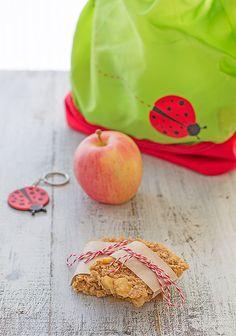 barritas de manzana, merienda