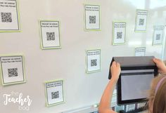 Animal research reports- using Haiku Deck to make the presentation, and then attaching a QR code to it.  Students scan each others QR codes to learn about the different animals.