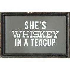 She's Whiskey Framed Wall Decor