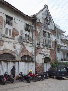 Dutch buildings, Jakarta.Old buildings in the Kota section of Jakarta.