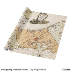 Vintage Map of Prince Edward Island (1775) Wrapping Paper