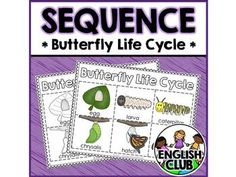 {free} Sequence mat & picture cards for the butterfly life cycle!