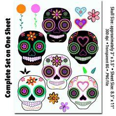 DIA De Los Muertos Clip Art | il_570xN.510030784_3zya.jpg