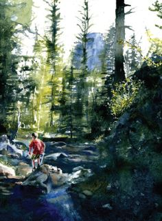 How To Paint Amazing Landscapes in Watercolor - Drawing Made Easy