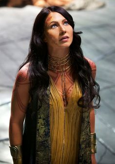 Lynn Collins in John Carter - a bit like Keira Shadow, actually.  Even with the henna.