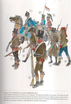 MINIATURAS MILITARES POR ALFONS CÀNOVAS Empire, Army Uniform, Military Uniforms, Spain And Portugal, Napoleonic Wars, Spanish, Warriors, Drawings, Soldiers
