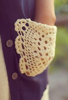 crotchet pockets <3