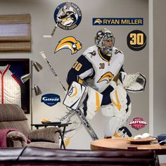 Fathead Ryan Miller Wall Graphic - 71-71207