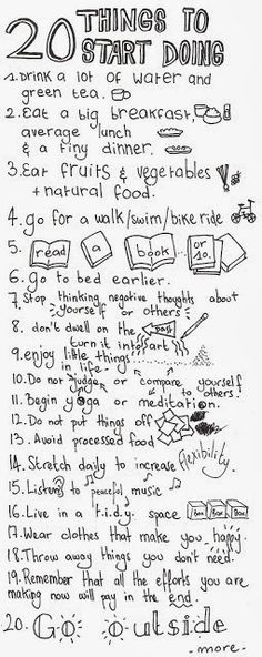 Love this list of 20 things to start doing! Let's do it! :)