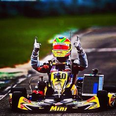 What's going to be YOUR signature move after winning the race? Better start thinking about it! #racing #Florida #karting http://www.idriveracing.com