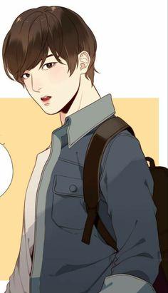 Islamic Cartoon, Boy Illustration, Kpop Drawings, Army Love, Drama Korea, Room Wallpaper, Sweet Life, True Beauty, Webtoon