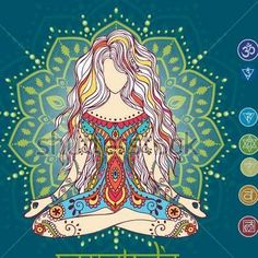 The Undisciplined Mind is a symptom of a greater issue that can be helped though deep concentration and practices such as Meditation. Hamsa, Yoga Studio Design, Les Chakras, Yoga Art, Hippie Art, Indian Art, New Art, Fantasy Art, Art Drawings