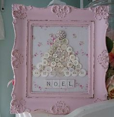 Shabby chic & pink button tree