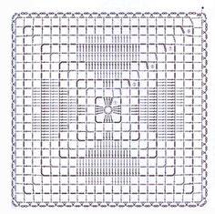 Kira Scheme Crochet: Scheme Crochet No. Crochet Motifs, Crochet Blocks, Granny Square Crochet Pattern, Crochet Stitches Patterns, Crochet Squares, Thread Crochet, Crochet Doilies, Granny Squares, Crochet Cushions