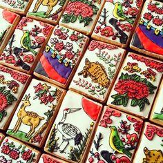 HANAFUDA, - Japanese playing cards - cookies